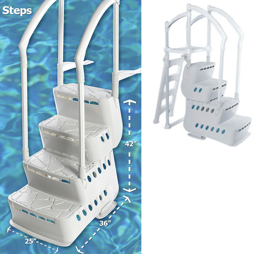 Best ideas about Above Ground Pool Ladders . Save or Pin Innovaplas Biltmor Ground In Pool Ladder Step Entry Now.