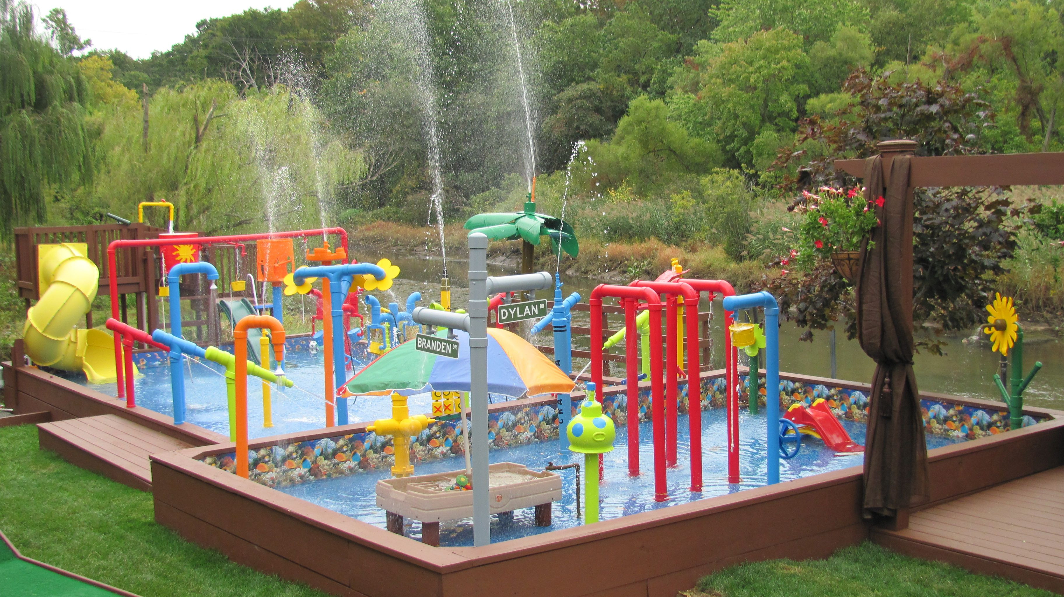 Best ideas about Above Ground Pool Pad Ideas . Save or Pin The water park is pleted Now.