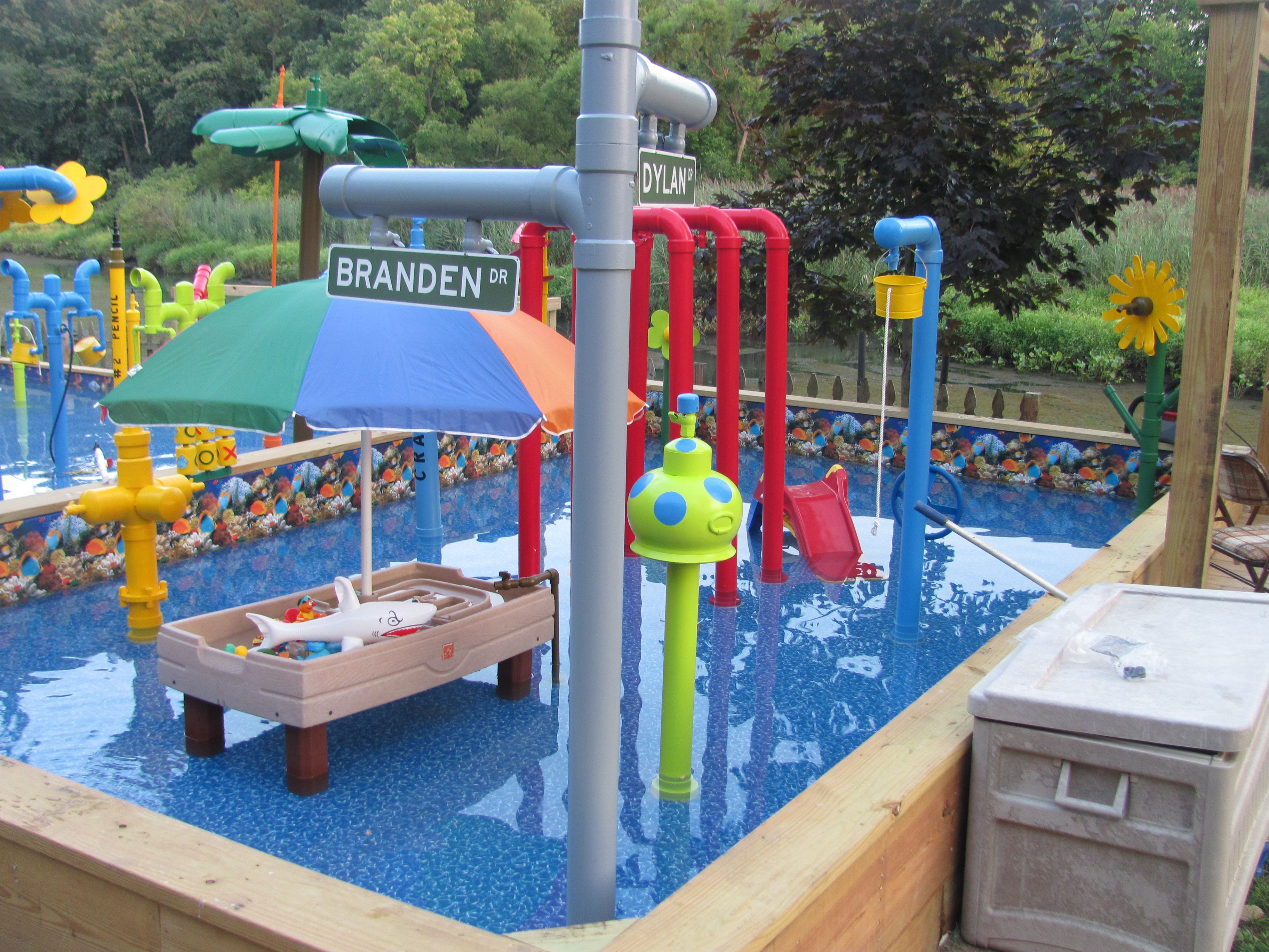 Best ideas about Above Ground Pool Pad Ideas . Save or Pin It has a dump bucket slides water cannons a kid Now.