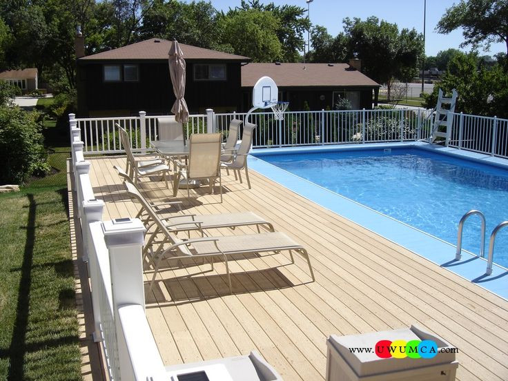 Best ideas about Above Ground Pool Pad Ideas . Save or Pin Swimming Pool Pool Decks Swimming Pool Ladder Pads Now.