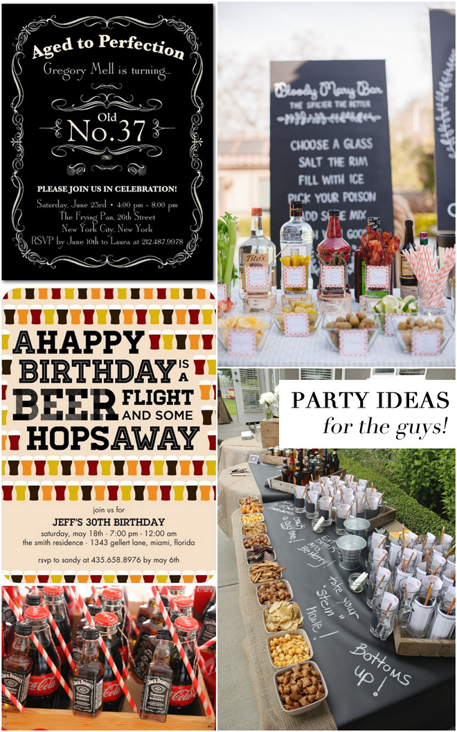 Best ideas about Adult Birthday Party Themes . Save or Pin Adult Birthday Party Ideas for the Guys Now.