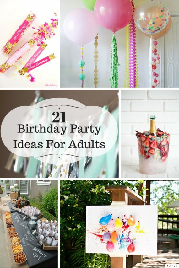 Best ideas about Adult Birthday Party Themes . Save or Pin 21 Ideas For Adult Birthday Parties Now.