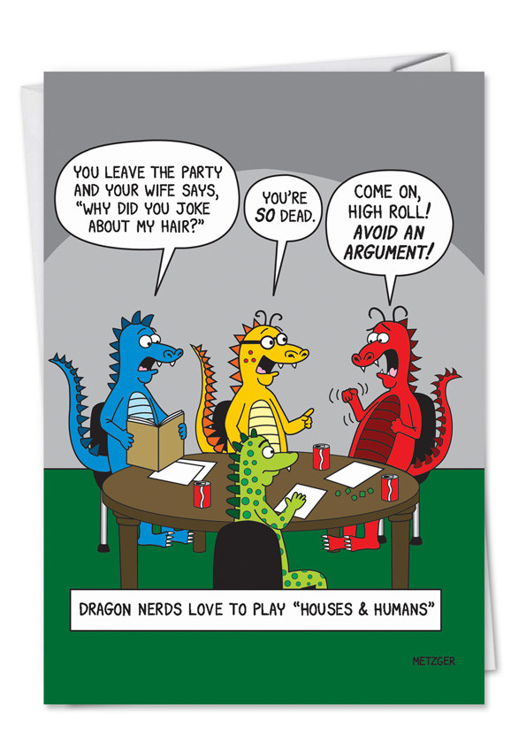 Best ideas about Adult Birthday Wishes . Save or Pin D&D Dragons Funny Geek Birthday Card – NobleWorks Cards Now.
