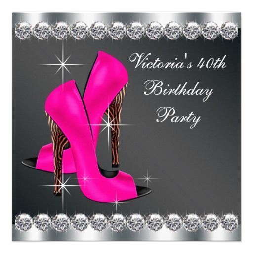 Best ideas about Adult Birthday Wishes . Save or Pin Woman s Hot Pink Zebra 40th Birthday Party Custom Now.