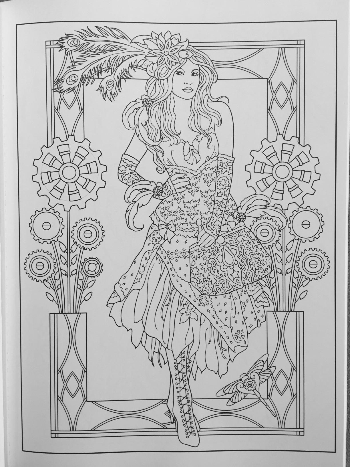 Best ideas about Adult Coloring Books Amazon . Save or Pin Creative Haven Steampunk Fashions Coloring Book Adult Now.