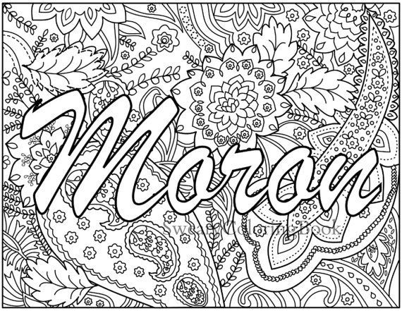 Best ideas about Adult Coloring Books Bad Words . Save or Pin Moron Swear Words Coloring Page from the by Now.