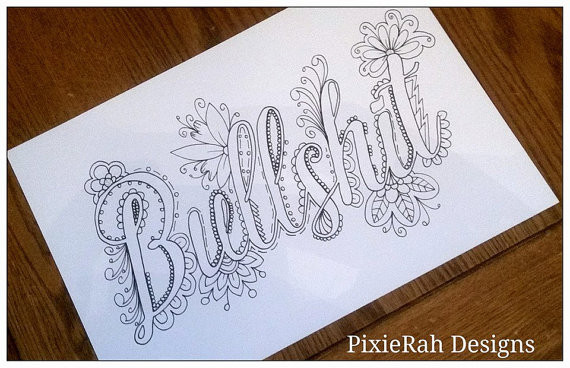 Best ideas about Adult Coloring Books Bad Words . Save or Pin Swear Words Coloring Book 5 Now.