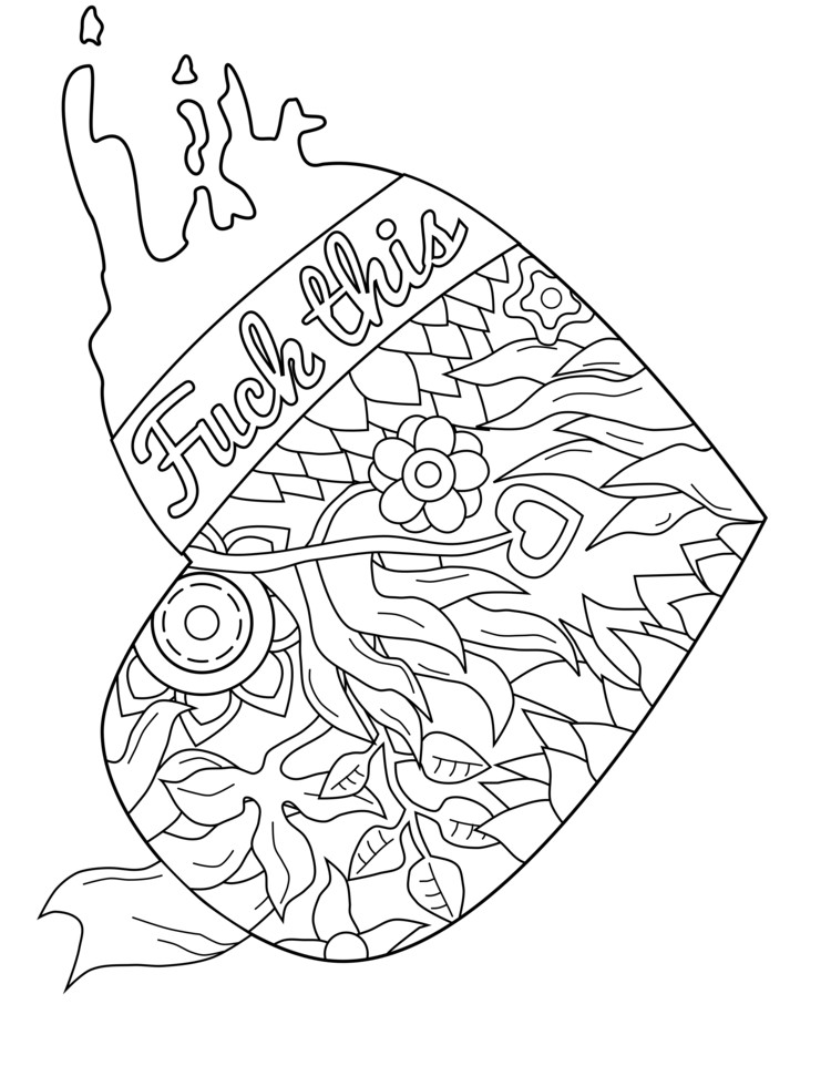 Best ideas about Adult Coloring Books Bad Words . Save or Pin 50 free printable swear coloring pages at swearstressaway Now.