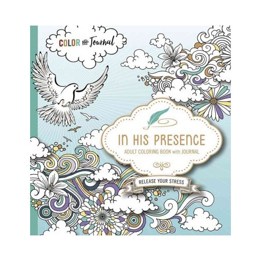 Best ideas about Adult Coloring Books Target . Save or Pin In His Presence Adult Coloring Book With Journal Now.