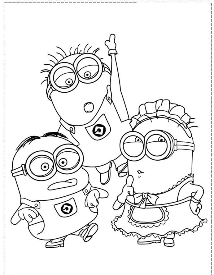 Best ideas about Adult Coloring Pages For Boys . Save or Pin The Minion Character Girl And Boy Coloring Pages Now.