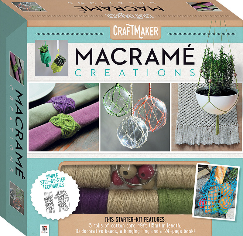 Best ideas about Adult Craft Kits . Save or Pin CraftMaker Macrame Creations Kit Craft kits Art Now.