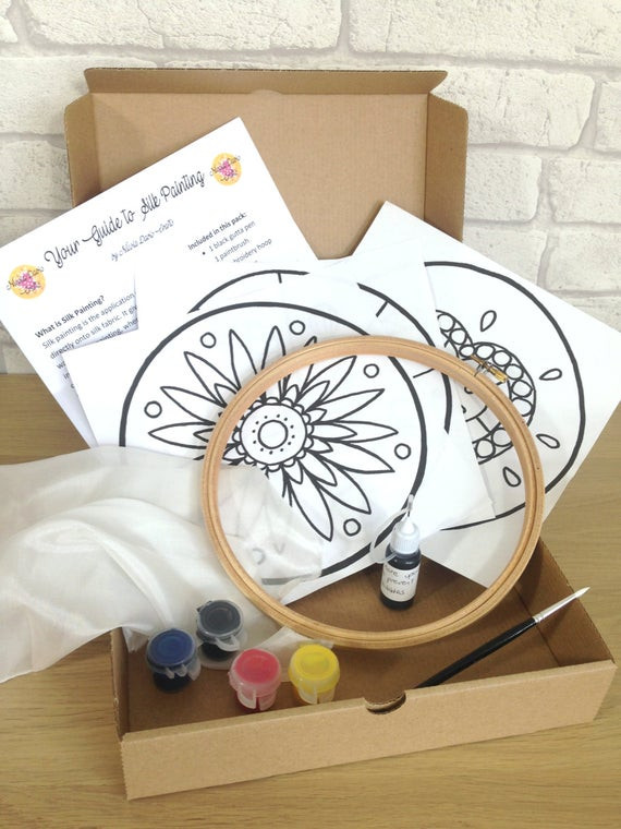 Best ideas about Adult Craft Kits . Save or Pin Silk Painting Kit Adults Craft Kits Childrens Craft Kit Now.
