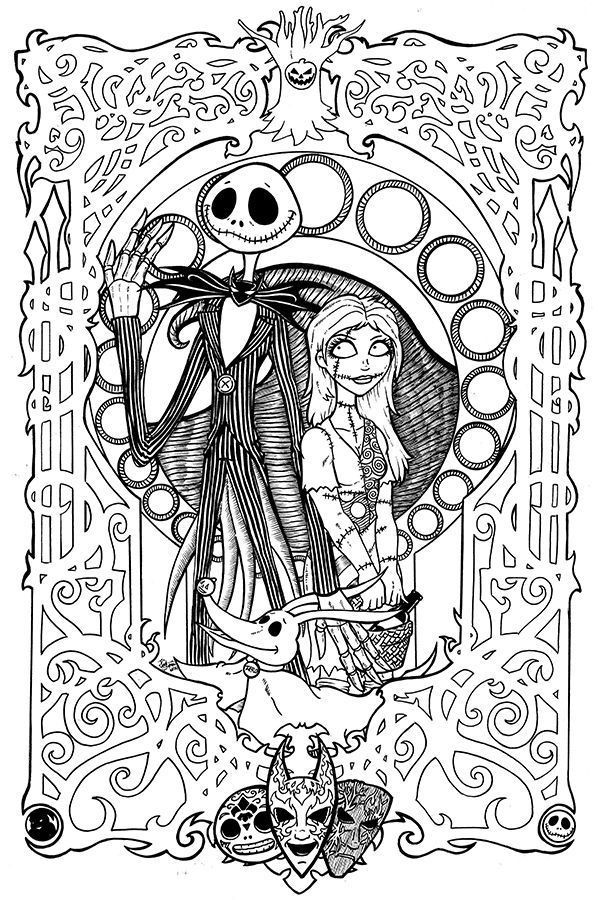 Best ideas about Adult Disney Coloring Books . Save or Pin Free Printables Nightmare Before Christmas Coloring Pages Now.