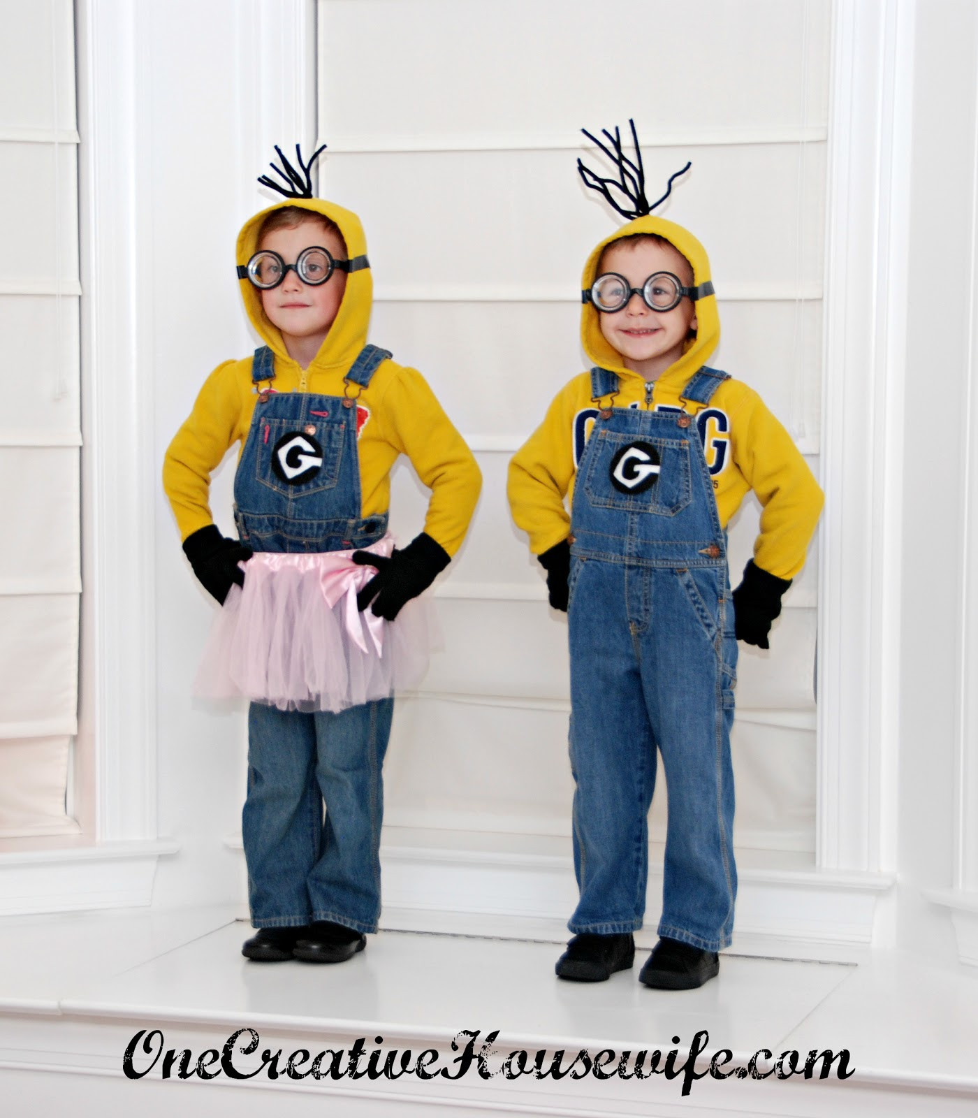 Best ideas about Adult DIY Halloween Costumes . Save or Pin e Creative Housewife Despicable Me Minion Costumes Now.