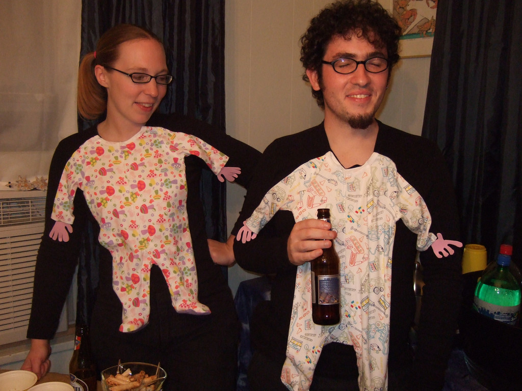 Best ideas about Adult DIY Halloween Costumes . Save or Pin DIY adult baby costumes for couples BigDIYIdeas Now.