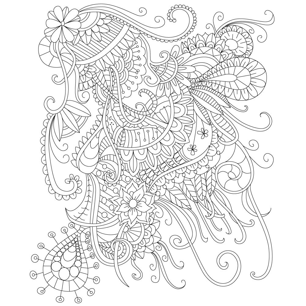 Best ideas about Adult Stress Coloring Books . Save or Pin Adult Coloring Page of Abstract Doodle Drawing for Stress Now.