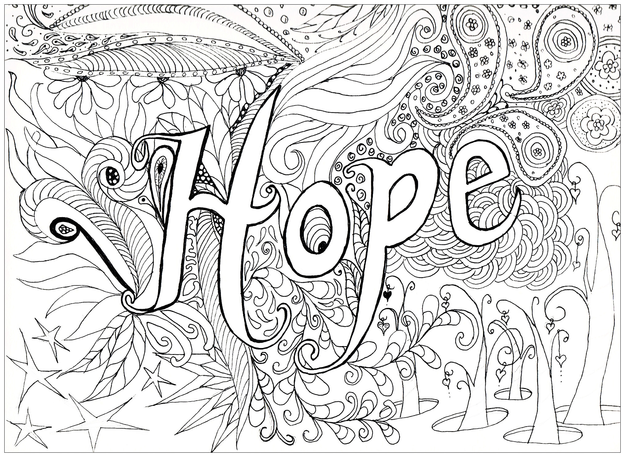 Best ideas about Adult Stress Coloring Books . Save or Pin Hope Anti stress Adult Coloring Pages Page 3 Now.