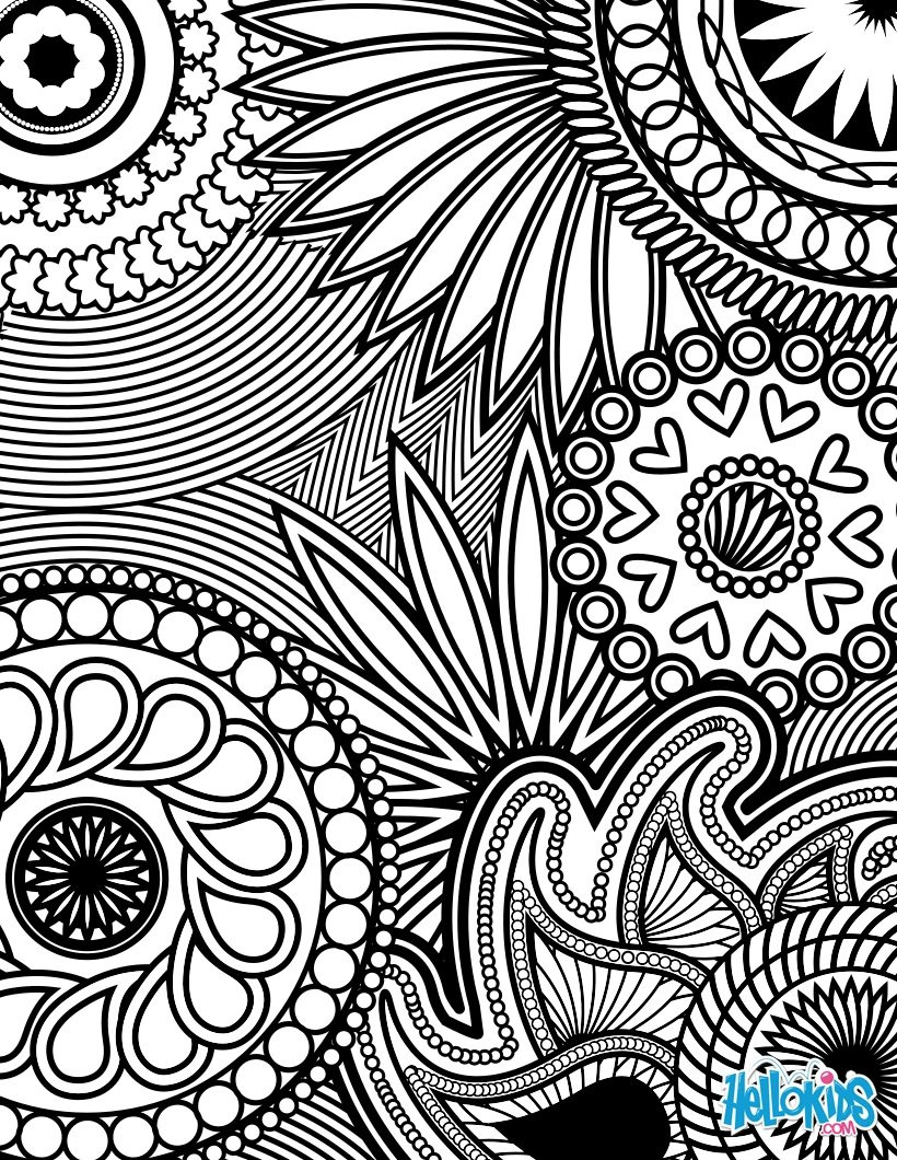 Best ideas about Adult Stress Coloring Books . Save or Pin Paisley hearts and flowers anti stress coloring design Now.
