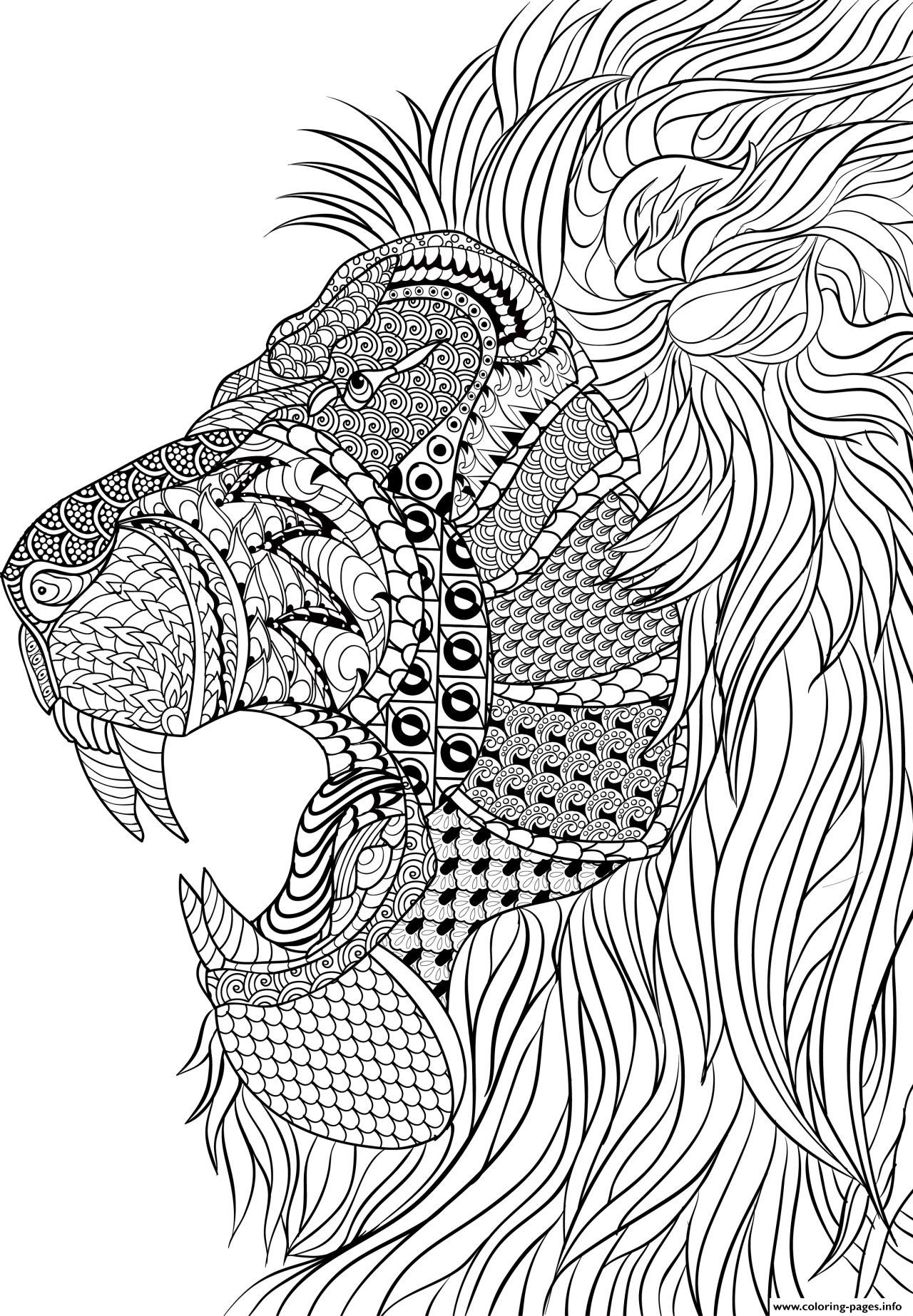 Best ideas about Adult Stress Coloring Books . Save or Pin Lion Adult Anti Stress Coloring Pages Printable Now.