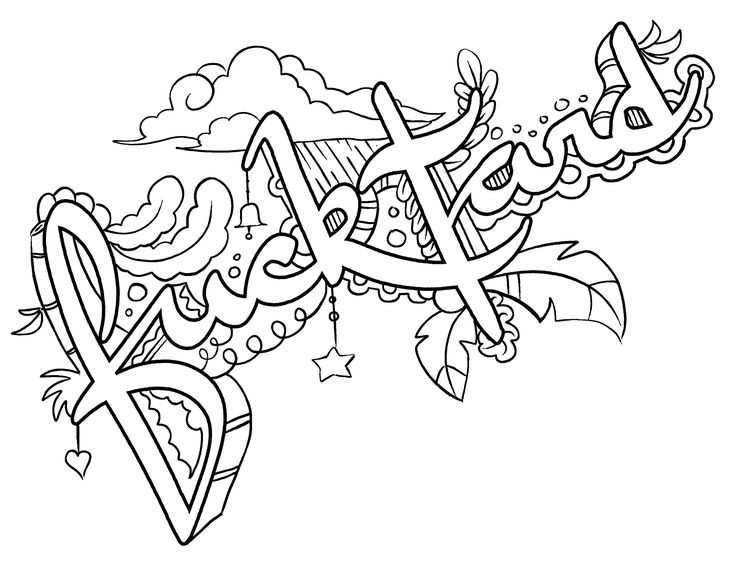Best ideas about Adult Swear Word Coloring Books . Save or Pin Adult Swear Words Coloring Book Pages Sketch Coloring Page Now.