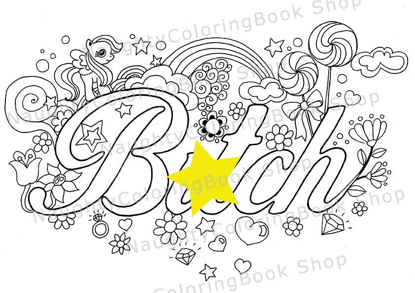 Best ideas about Adult Swear Word Coloring Books . Save or Pin Btch Swear Words Printable Coloring Pages Swear Word Now.