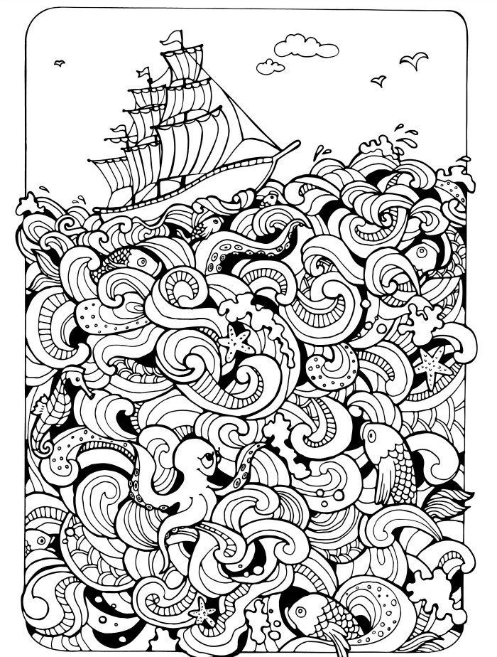 Best ideas about Adult Themed Coloring Books . Save or Pin 75 best Free Colouring Pages Sea Theme images on Now.