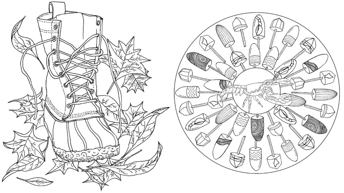 Best ideas about Adult Themed Coloring Books . Save or Pin Grownups Color lobsters boots & buoys with this Maine Now.