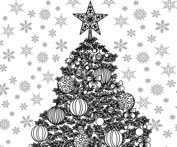 Best ideas about Adult Themed Coloring Books . Save or Pin Christmas Themed Adult Coloring Sheet — craftbits Now.