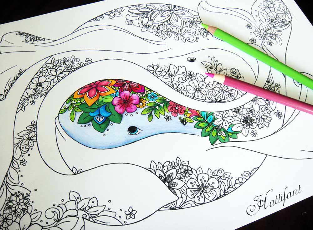 Best ideas about Adult Themed Coloring Books . Save or Pin Ocean Adult Colouring Page Hattifant Now.