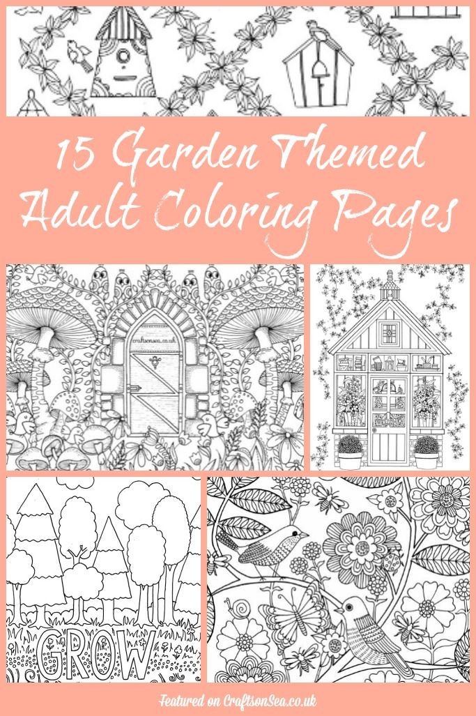 Best ideas about Adult Themed Coloring Books . Save or Pin 15 Free Garden Themed Adult Coloring Pages Now.
