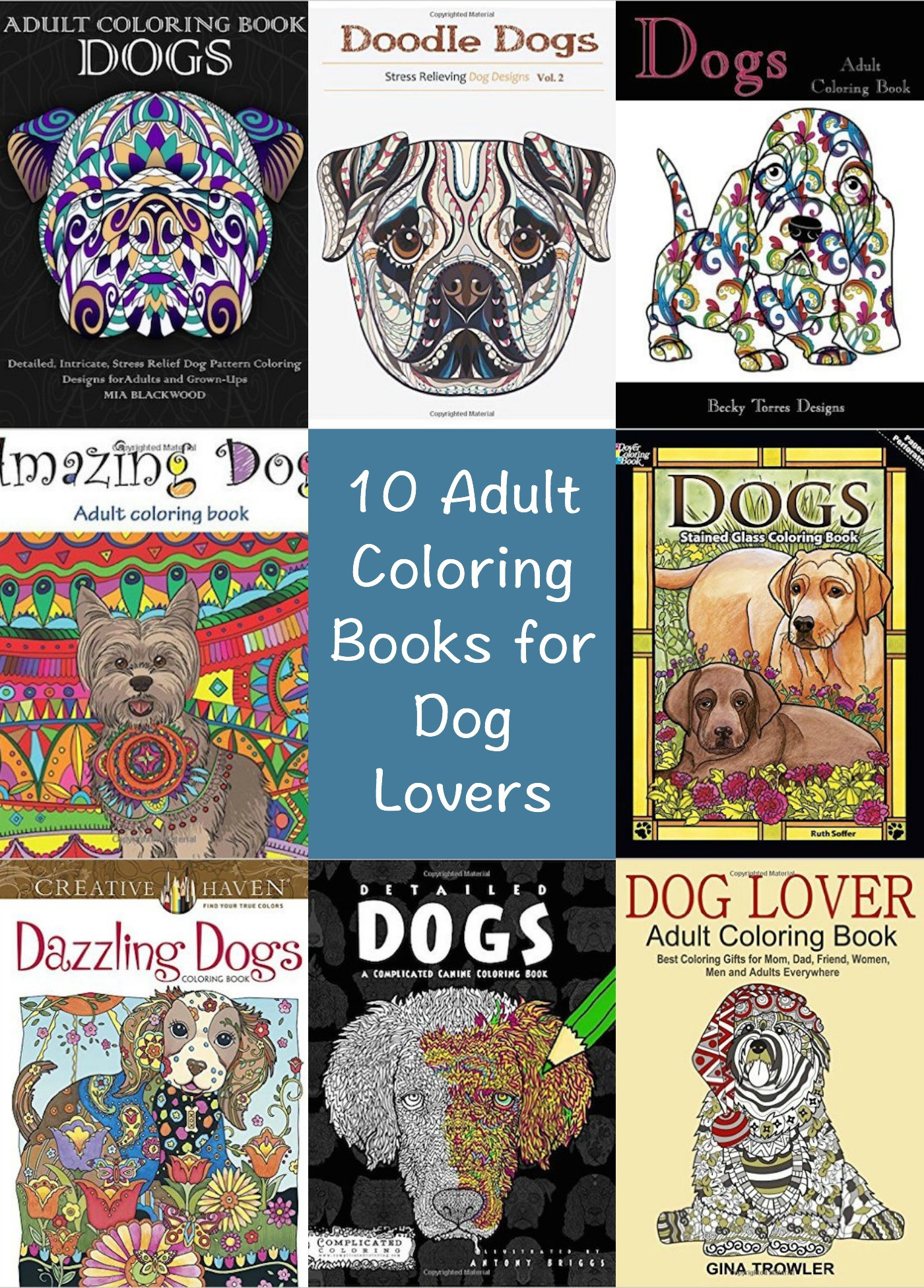 Best ideas about Adult Themed Coloring Books . Save or Pin 10 Dog Themed Coloring Books for Adults diycandy Now.