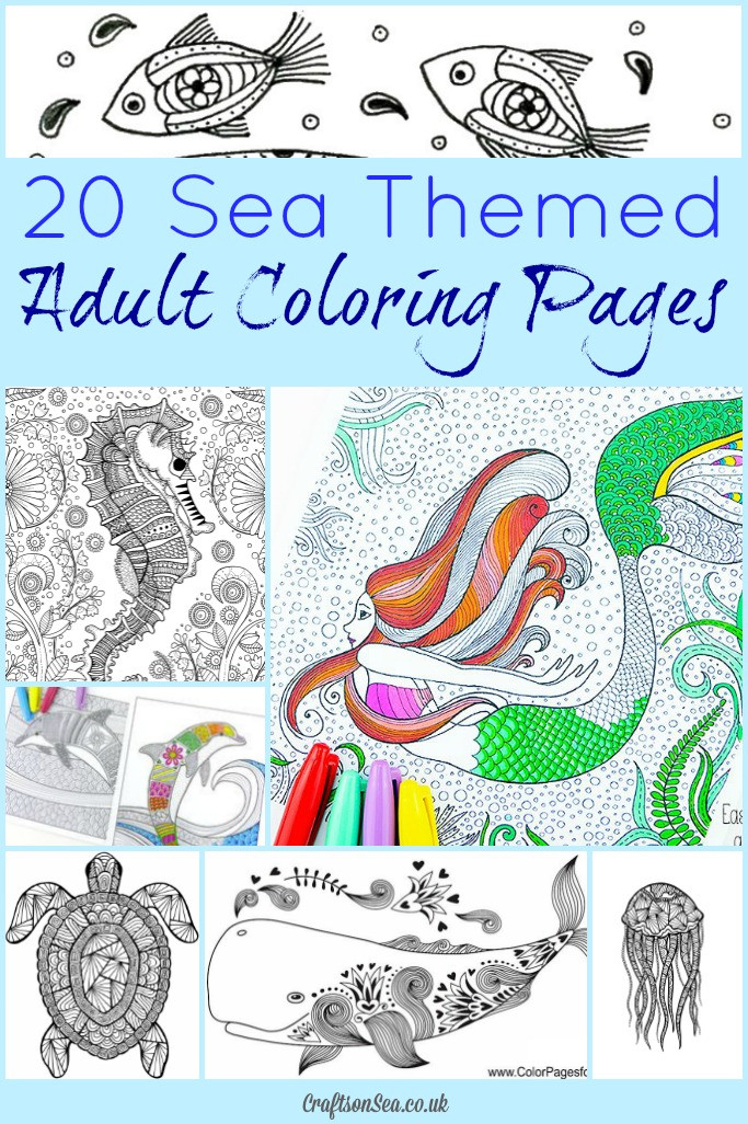 Best ideas about Adult Themed Coloring Books . Save or Pin 20 Free Sea Themed Adult Coloring Pages Crafts on Sea Now.