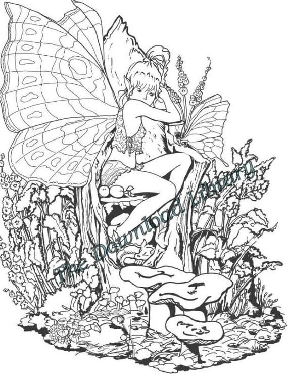 Best ideas about Adult Themed Coloring Books . Save or Pin Items similar to TEN yes TEN Fairy Themed Coloring Now.