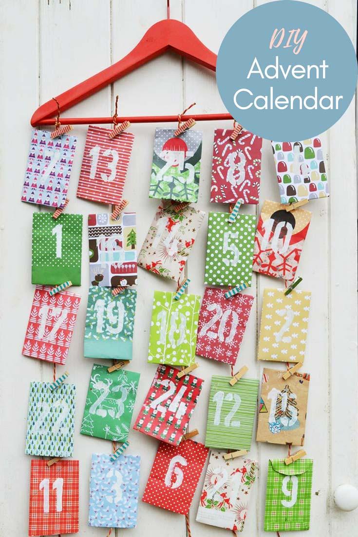 Best ideas about Advent Calendar DIY . Save or Pin Homemade Paper Envelope Advent Calendar Pillar Box Blue Now.