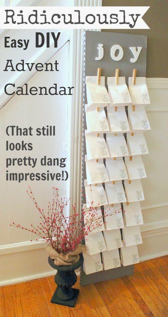 Best ideas about Advent Calendar DIY . Save or Pin Ridiculously Easy DIY Advent Calendar Now.
