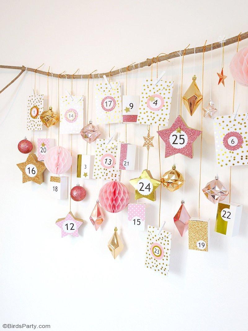 Best ideas about Advent Calendar DIY . Save or Pin Pink & Copper DIY Advent Calendar Party Ideas Now.