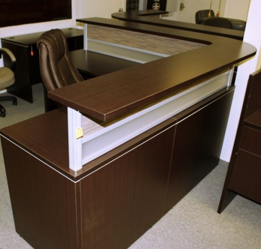 Best ideas about Affordable Office Furniture . Save or Pin fice Source L Shape Reception Desk Reception Desks Now.