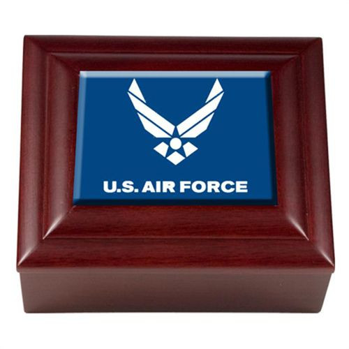 Best ideas about Air Force Gift Ideas . Save or Pin Mahogany Keepsake Box AIR FORCE usaf Air Force mahogany Now.