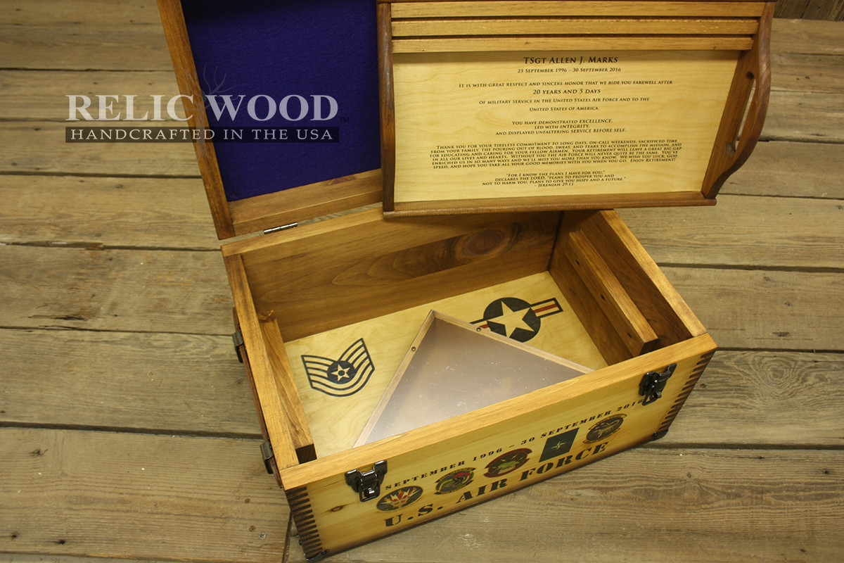 Best ideas about Air Force Gift Ideas . Save or Pin US Military Retirement Gift Ideas Showcase Relic Wood Now.