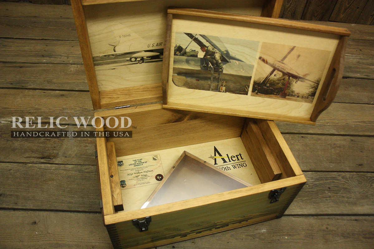 Best ideas about Air Force Gift Ideas . Save or Pin Custom Military Keepsake Box Now.