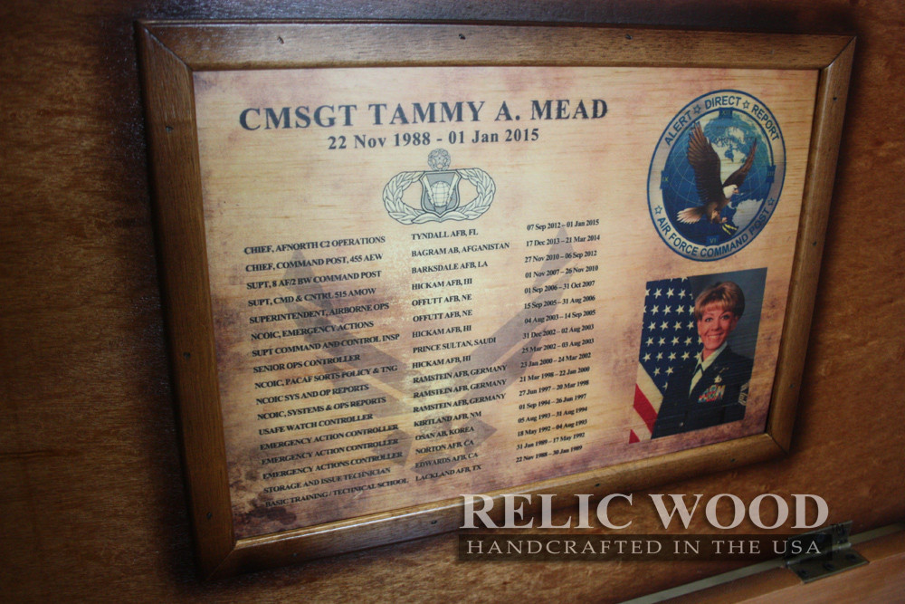 Best ideas about Air Force Gift Ideas . Save or Pin In production this week Relic Wood Now.