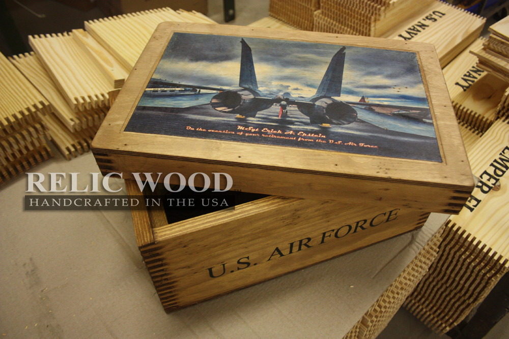Best ideas about Air Force Gift Ideas . Save or Pin Relic Wood Boxes — New Post has been published on Relic Wood Now.