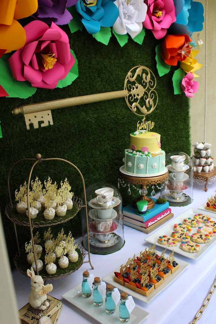 Best ideas about Alice In Wonderland Birthday Decorations . Save or Pin Kara s Party Ideas Alice In Wonderland Dessert Table Now.