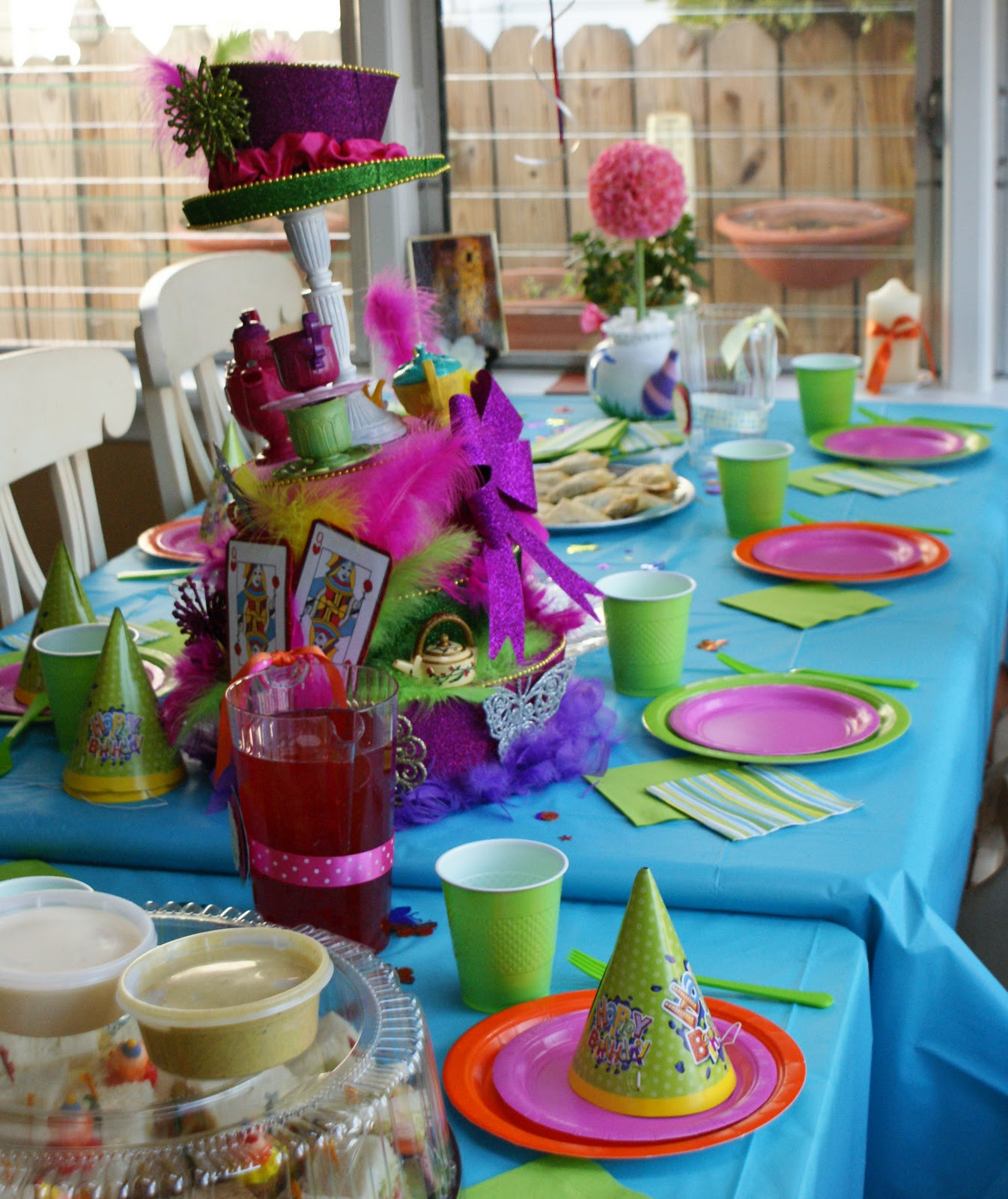 Best ideas about Alice In Wonderland Birthday Decorations . Save or Pin Paper Chick Alice in Wonderland Birthday Party Centerpiece Now.