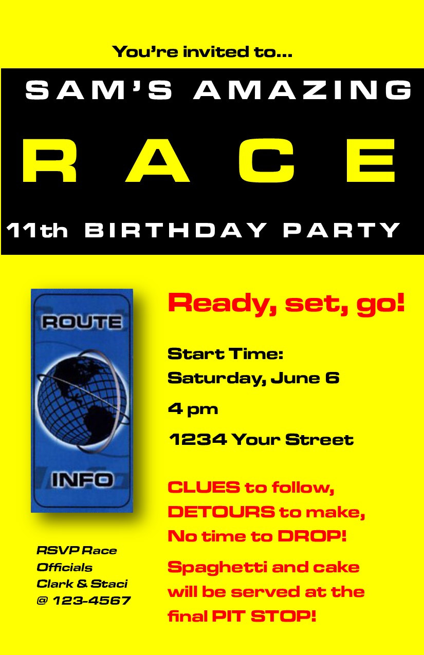 Best ideas about Amazing Race Birthday Party . Save or Pin Amazing Race 11th Birthday Party – Profoundly Ordinary Now.