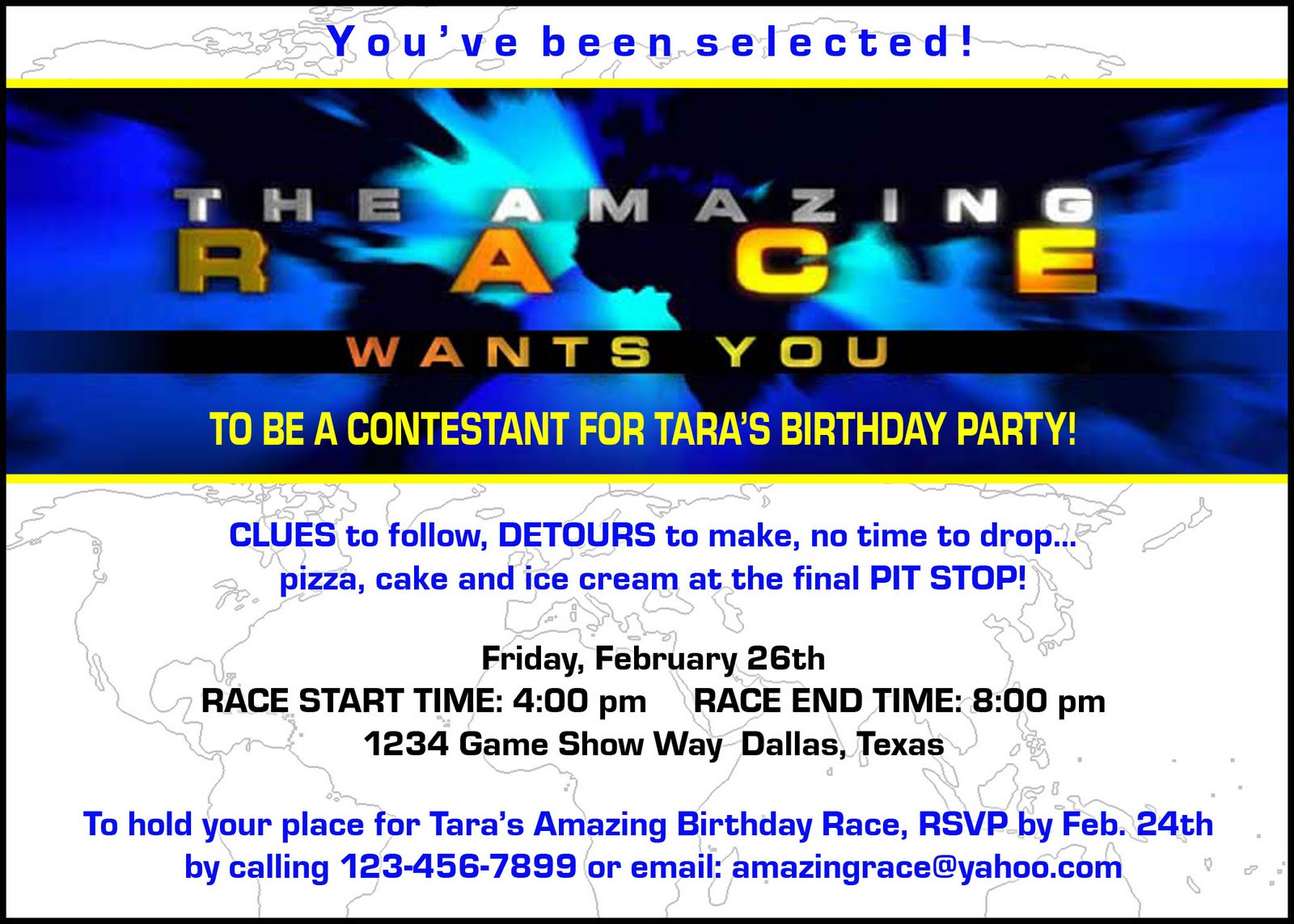 "Best ideas about Amazing Race Birthday Party . Save or Pin Paper Perfection Free ""Amazing Race"" Birthday Party Now."