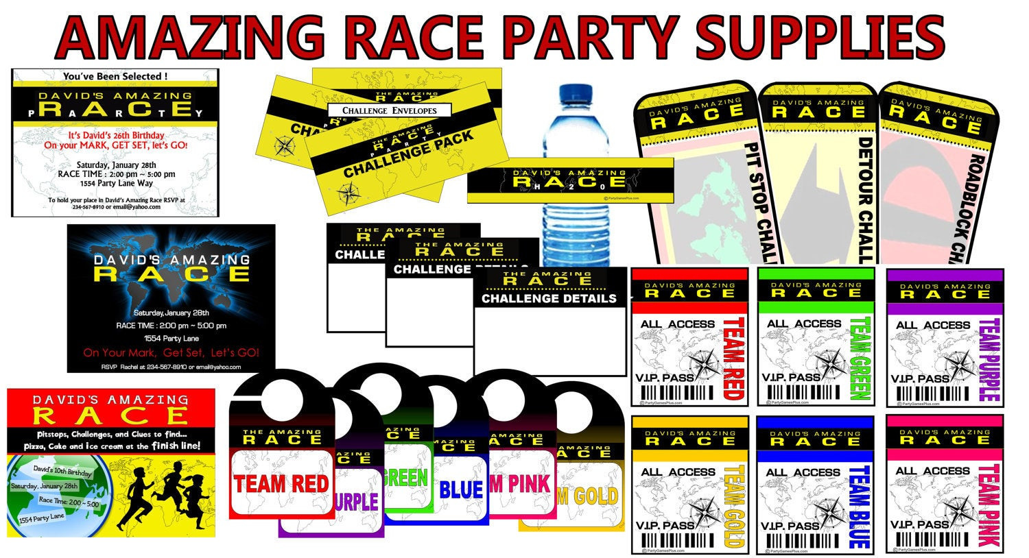 Best ideas about Amazing Race Birthday Party . Save or Pin Laura Riggs on Etsy Now.