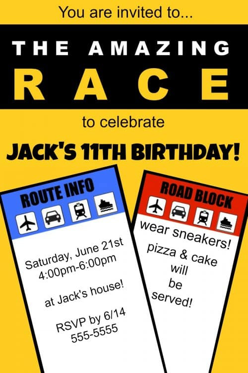 Best ideas about Amazing Race Birthday Party . Save or Pin Great 11 Year Old Party Idea The Amazing Race Birthday Now.