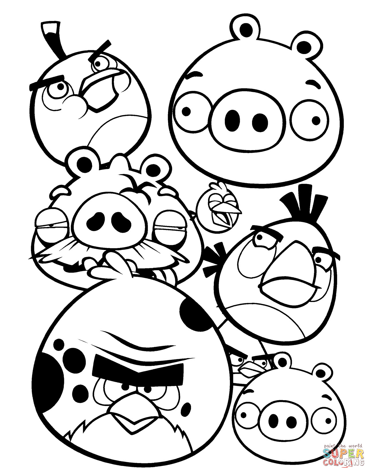 Best ideas about Angry Birds Coloring Pages For Kids Printable . Save or Pin Angry Birds coloring page Now.