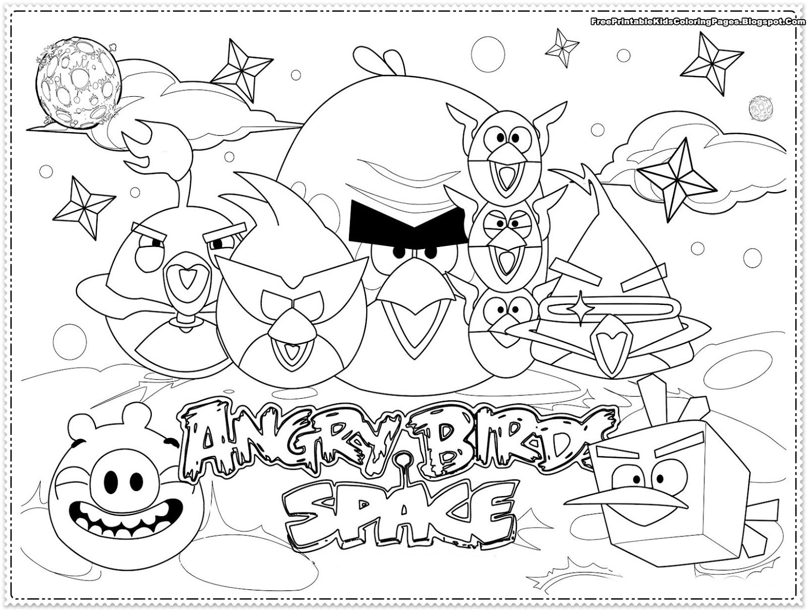 Best ideas about Angry Birds Coloring Pages For Kids Printable . Save or Pin Angry Birds kids Coloring Pages Free Printable Kids Now.